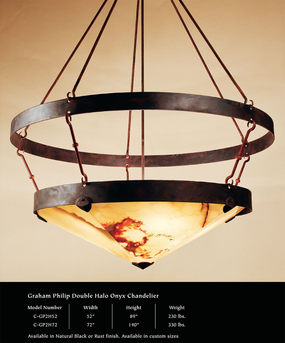 Lighting Collection Grace and Graham Lighting – Onyx Chandelier